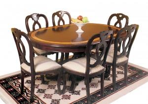 Comedor ovalado extensible muebles de la hoz for Comedor ovalado extensible